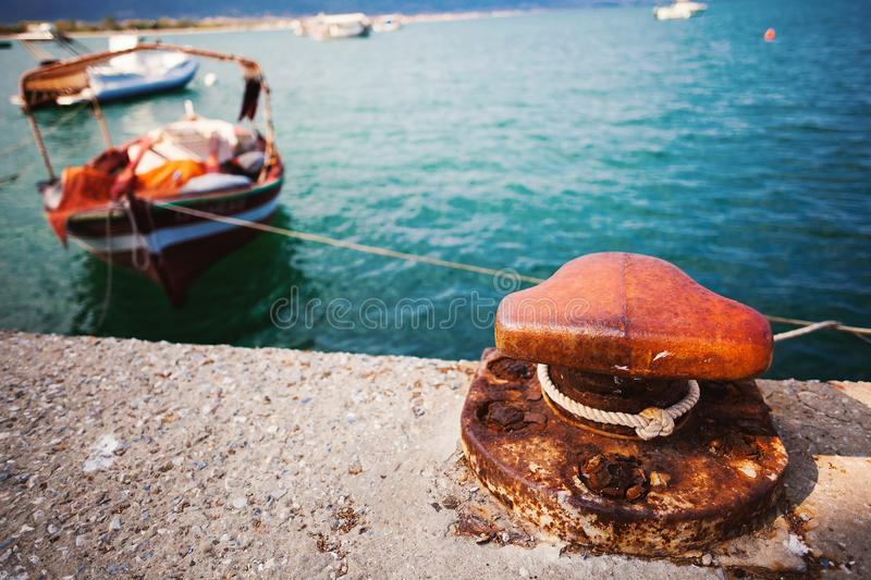 Details of Parked Boat stock photography