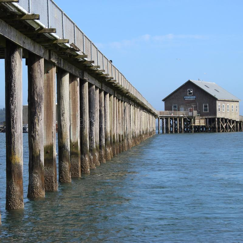 On the dock. A building on the water in the Pacific NW royalty free stock photos