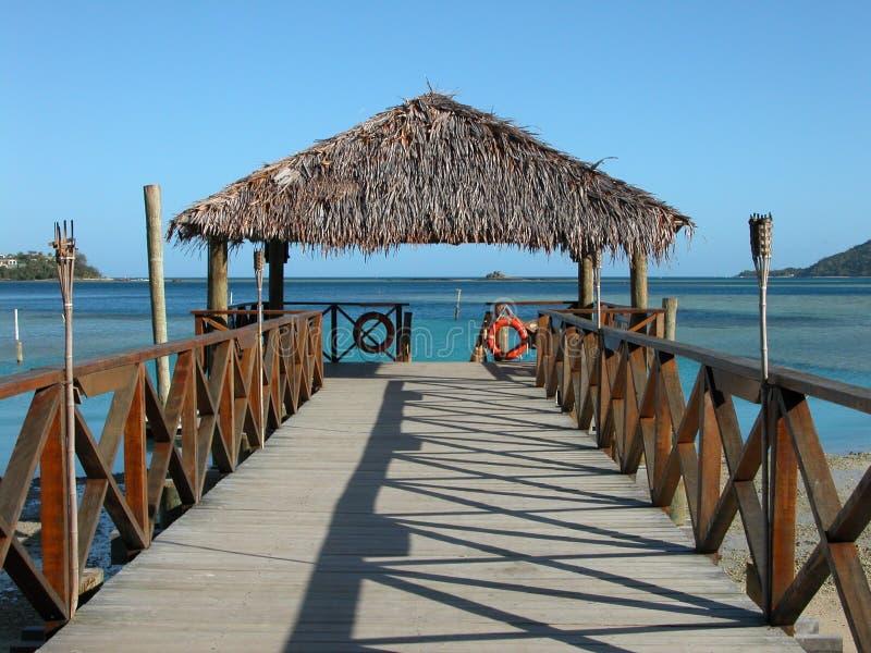 Dock du Fiji photo stock