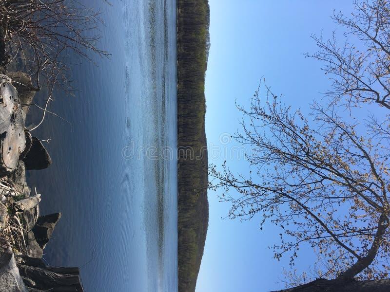 Dock du fleuve Connecticut image libre de droits