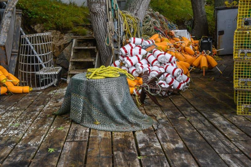 Dock du ` s de pêcheur de homard photographie stock libre de droits
