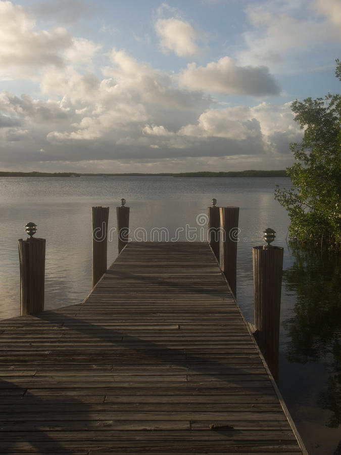 Dock flou photographie stock