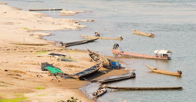 Download Dock of kong river stock image. Image of ratchathani - 27756593
