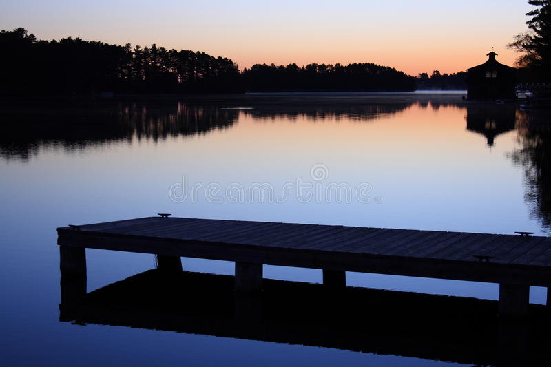 Download Dock on the lake stock photo. Image of morning, dock - 16387858