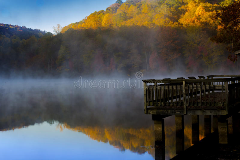 Dock In The Mist royalty free stock photo