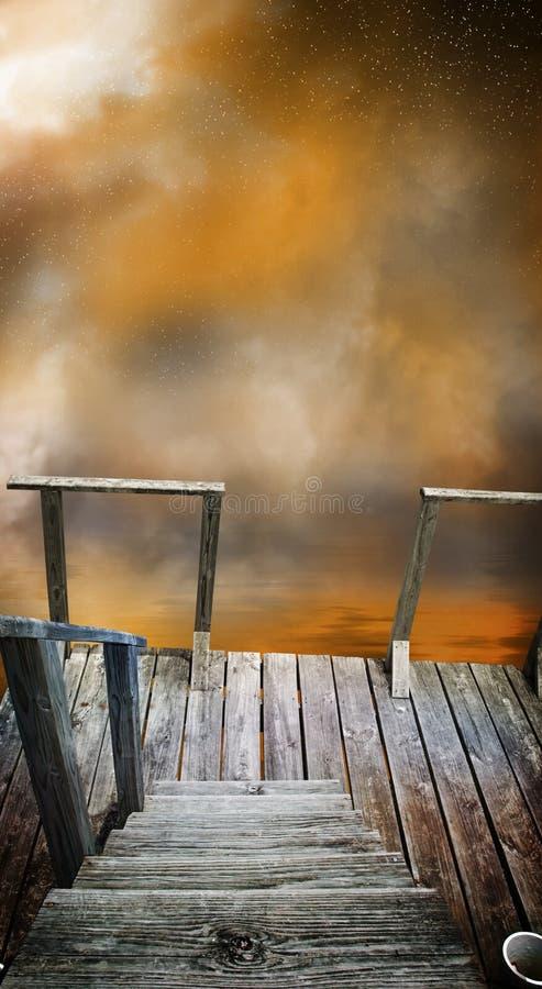 Dock mystérieux illustration libre de droits