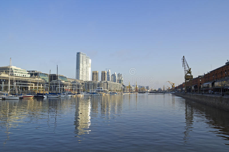 Dock number 2. Port of Buenos Aires. royalty free stock photography