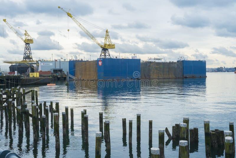 Dock sec de Seaspan à la clé de Lonsdale photos stock