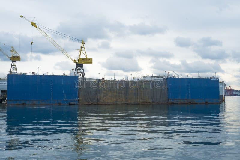 Dock sec de Seaspan à la clé de Lonsdale image stock