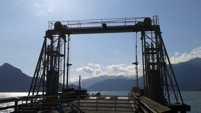 Dock sous le soleil images libres de droits