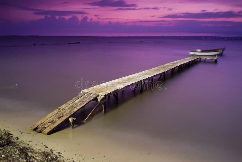 Dock At Sunset Stock Photo