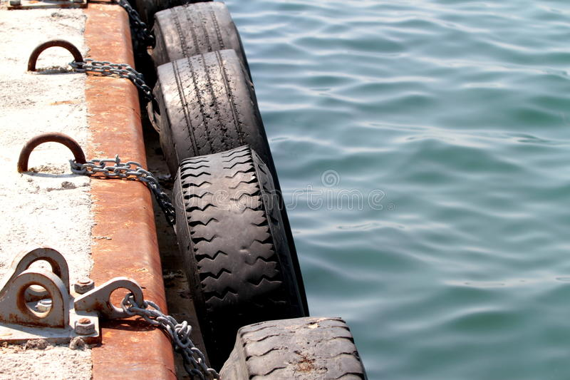 Download Dock tire bumpers stock photo. Image of metal, buffer - 26362612