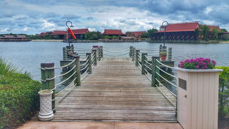 Dock at wedding chapel Wdw royalty free stock images