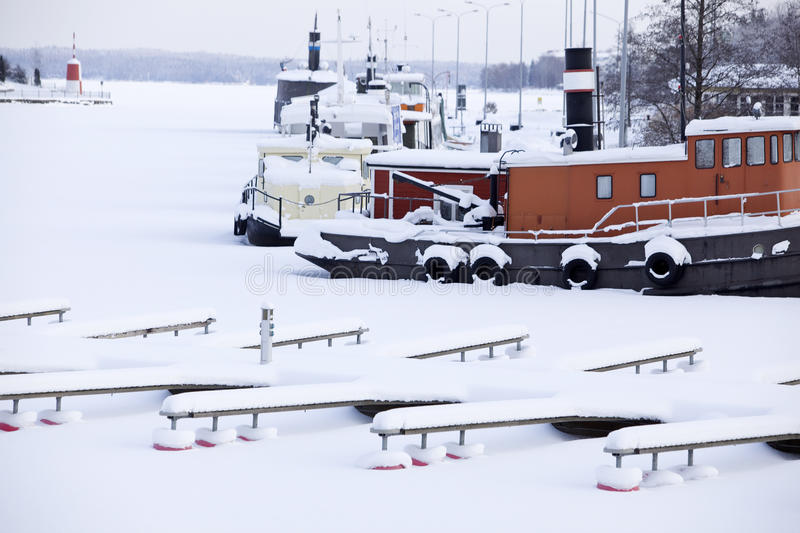 Dock in Winter royalty free stock photo