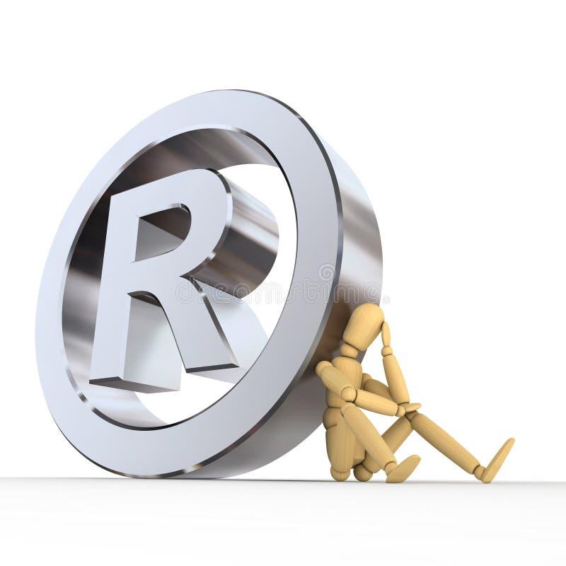 docka registreringsteckenvarumärke stock illustrationer