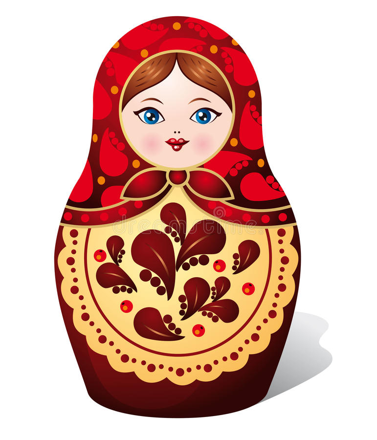 dockamatryoshka royaltyfri illustrationer