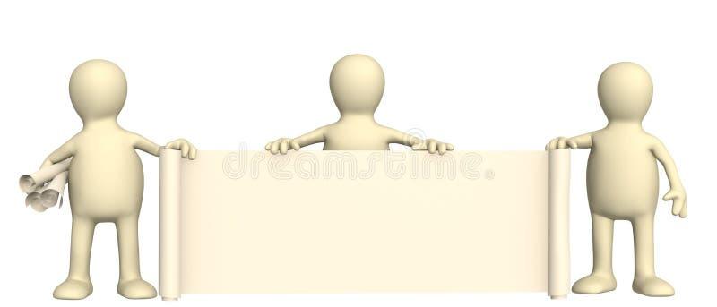 dockascroll för information 3d royaltyfri illustrationer