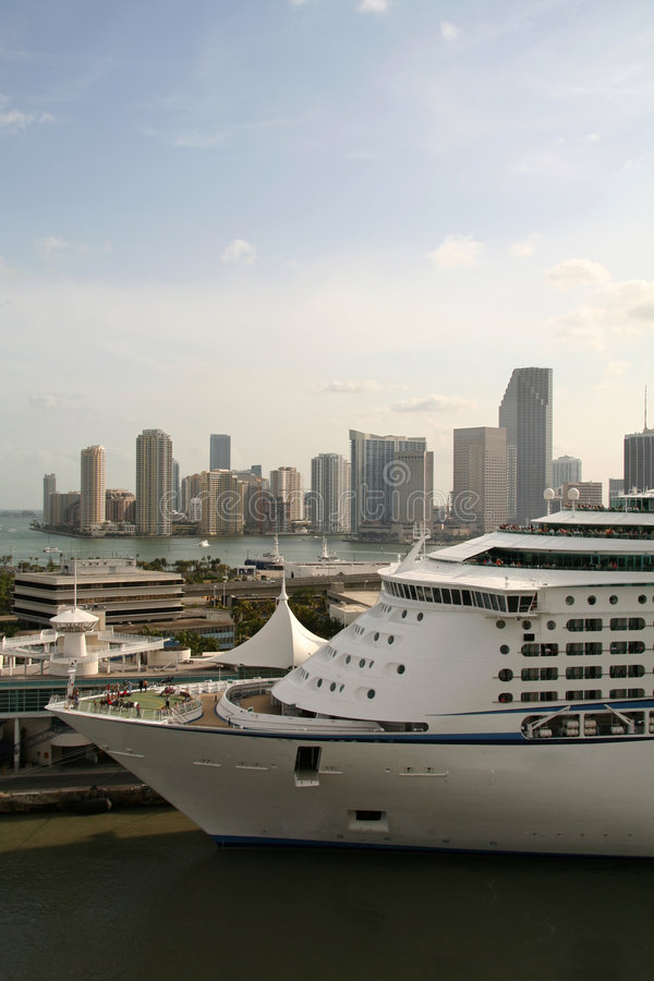 Download Docked Cruise line stock image. Image of cruise, miami - 1412423