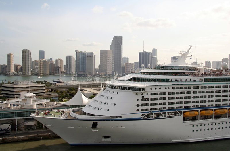 Docked Cruise line royalty free stock photography