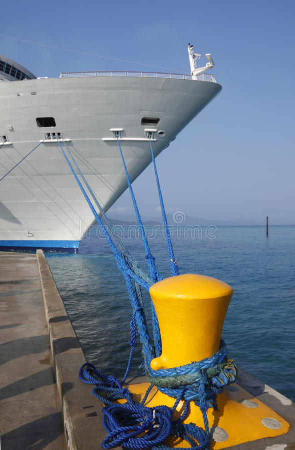 Docked cruise ship stock photo