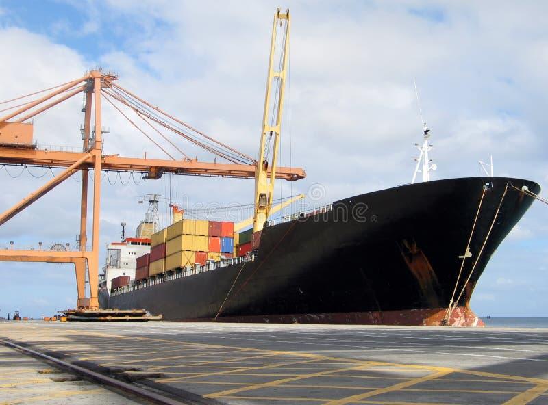 Docked ship stock image
