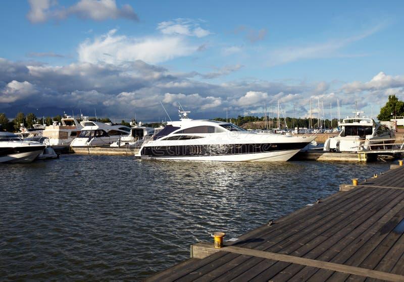 Docked yachts stock photography