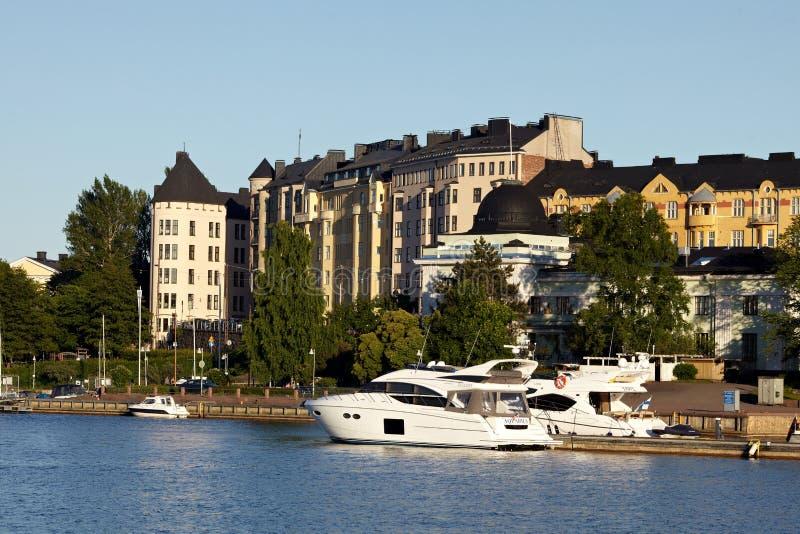 Docked yachts royalty free stock photography