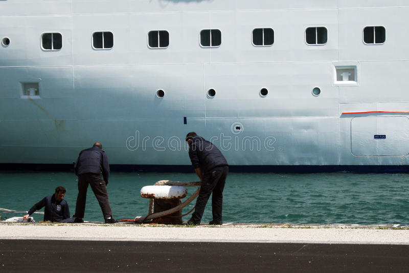Download Docking a ship editorial photography. Image of bari, europe - 25242297
