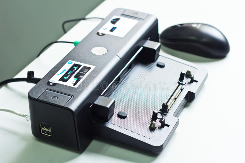 Docking station. On the table royalty free stock images