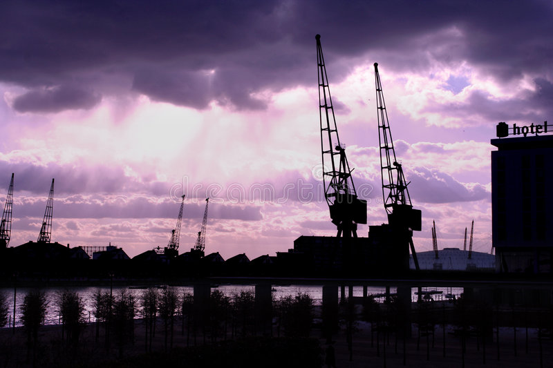 Docklands royalty free stock images