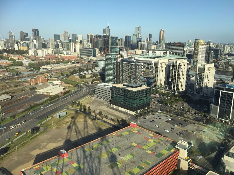 Docklands in Melbourne City stock photography