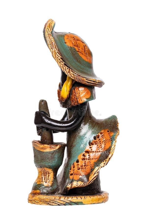Dockor från Dominikanska republiken En traditionell souvenir som göras från keramiskt, är färgrika målade dockor utan framsidan D fotografering för bildbyråer