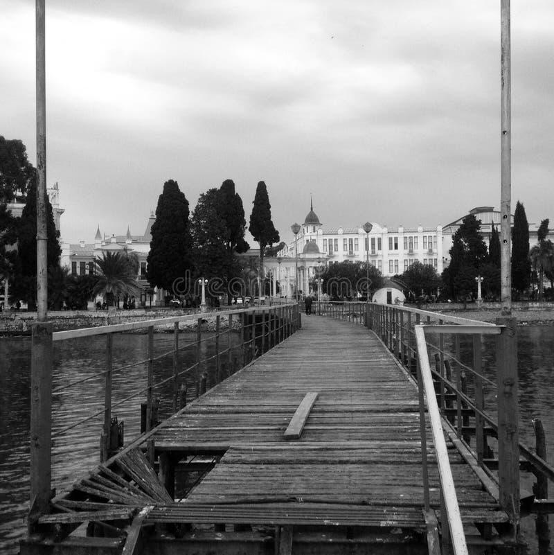 Docks in Abhazia, Georgia royalty free stock images
