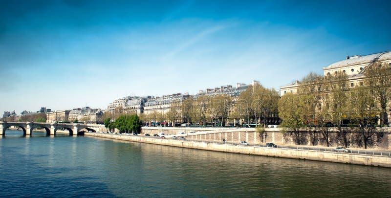 Download Docks Along The Seine River - Paris - Fran Stock Photography - Image: 24242632