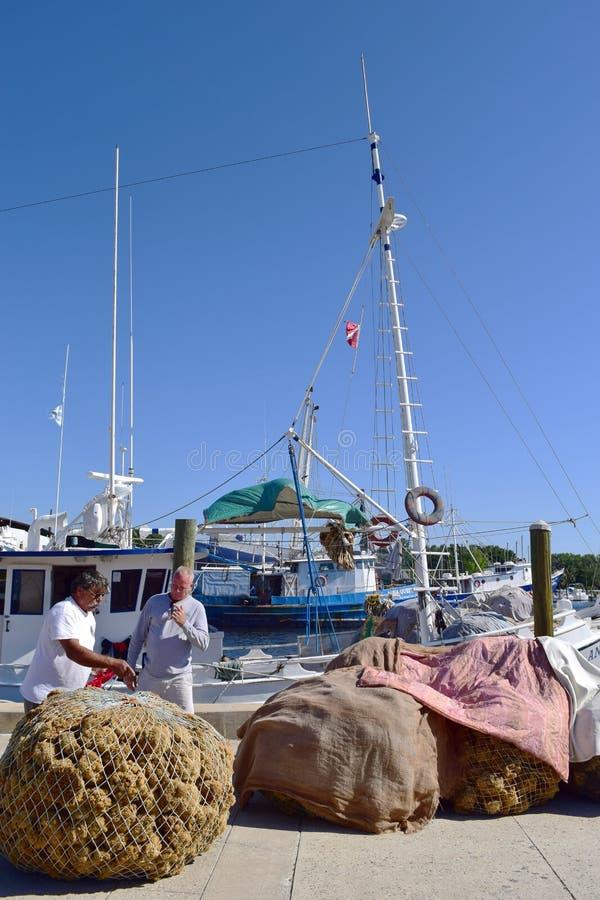 Docks d'éponge, Tarpon Springs, la Floride image libre de droits