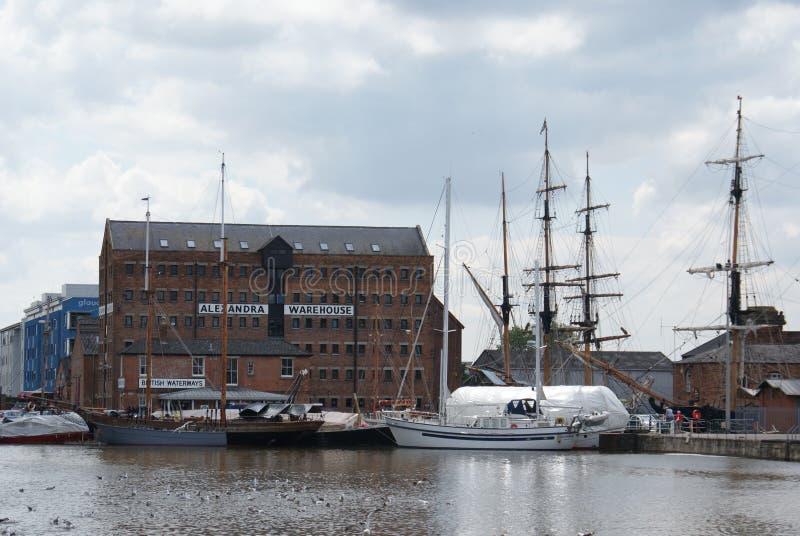 Docks d'Alexandra Warehouse Gloucester photos stock