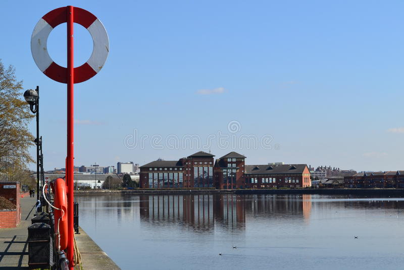 Docks de Preston image libre de droits