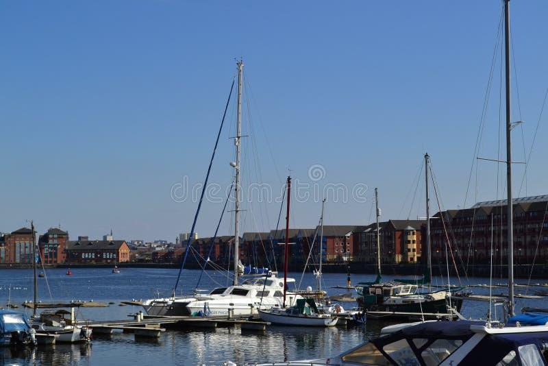 Docks de Preston photos stock