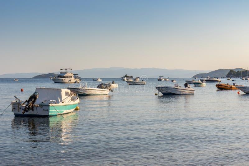 Docks de Skiathos image libre de droits