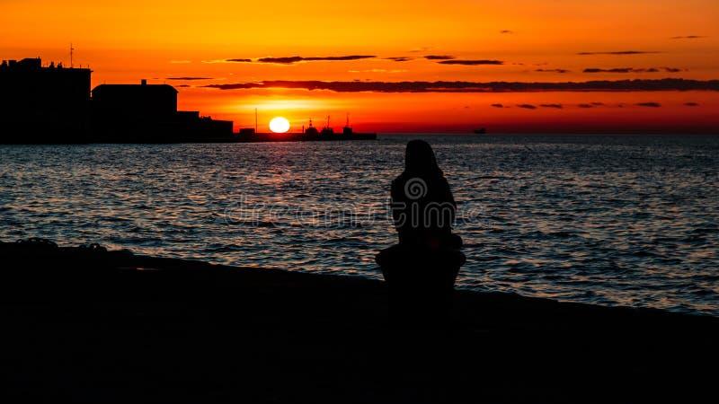 Docks de Trieste images libres de droits