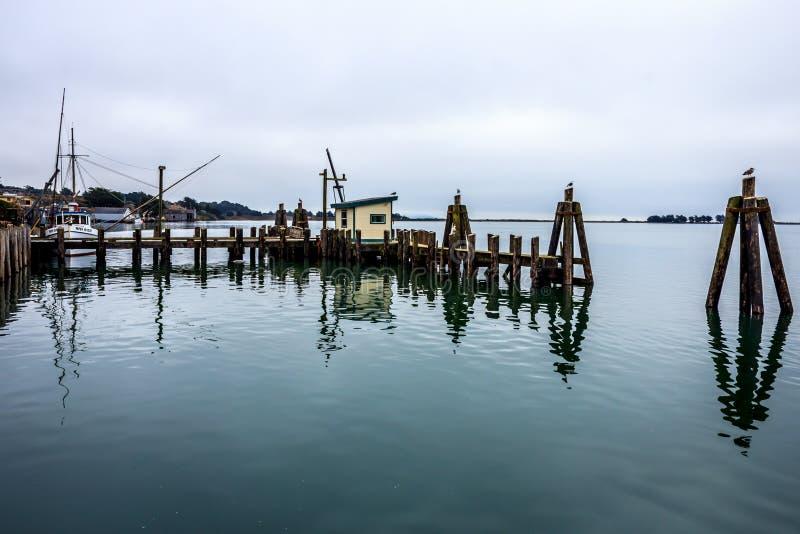 Dockside widok w Kalifornia obrazy royalty free