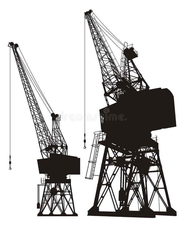 Free Dockyard Cranes Stock Image - 24203811