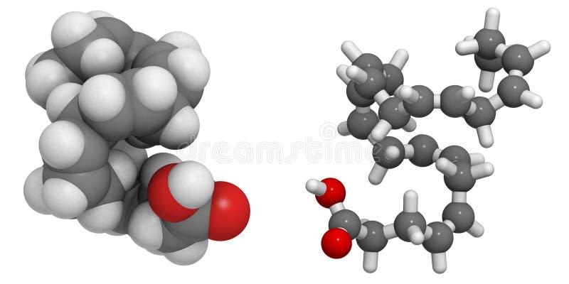 Docosahexaenoic acid (DHA, omega-3 fatty acid) royalty free illustration