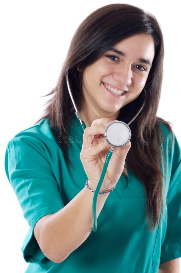 Docteur attirant de dame photo libre de droits