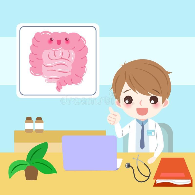 Docteur avec l'intestin illustration de vecteur