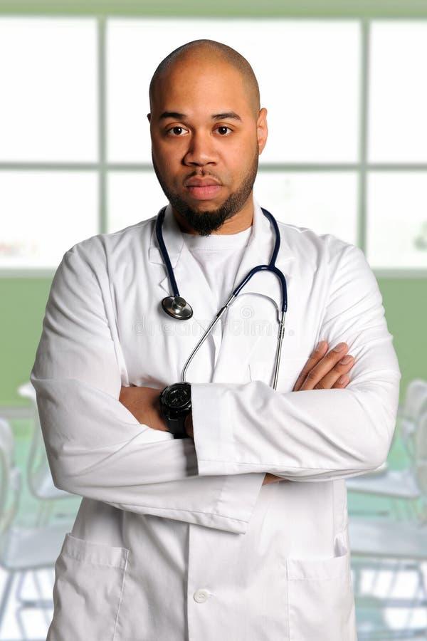 Docteur d'Afro-américain images libres de droits