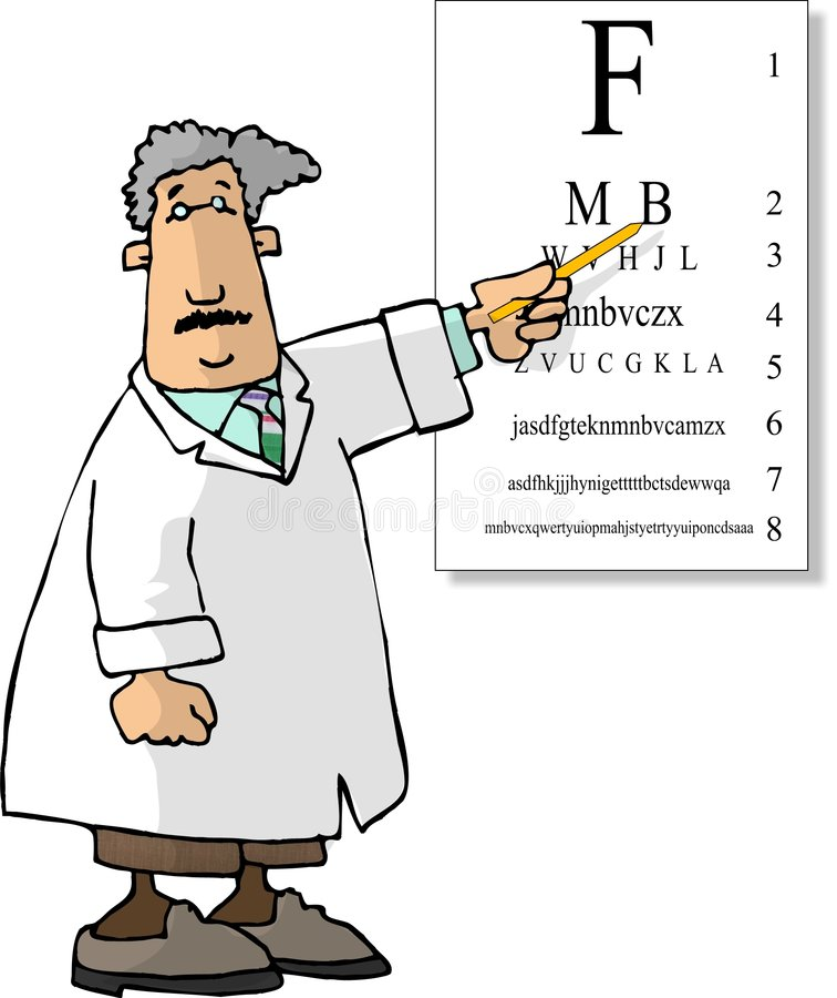 Docteur d'oeil (mâle) illustration libre de droits