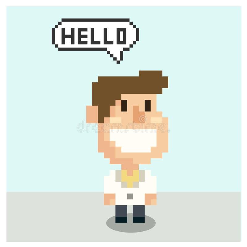 Docteur dans l'art de pixel illustration de vecteur