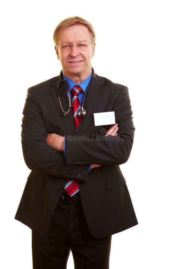 Docteur dans un procès d'affaires images libres de droits