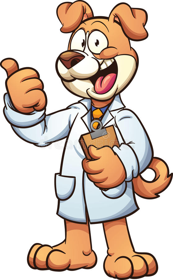 Docteur de chien illustration de vecteur